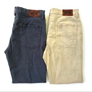 Joseph Abboud Classic Fit Chinos (Two Pairs) 34x30